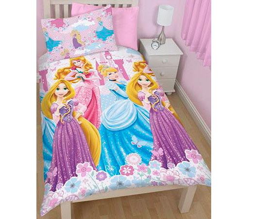 Juego de funda n rdica y almohada reversible con el dise o de las princesas disney por s lo 18 - Funda nordica princesas ...