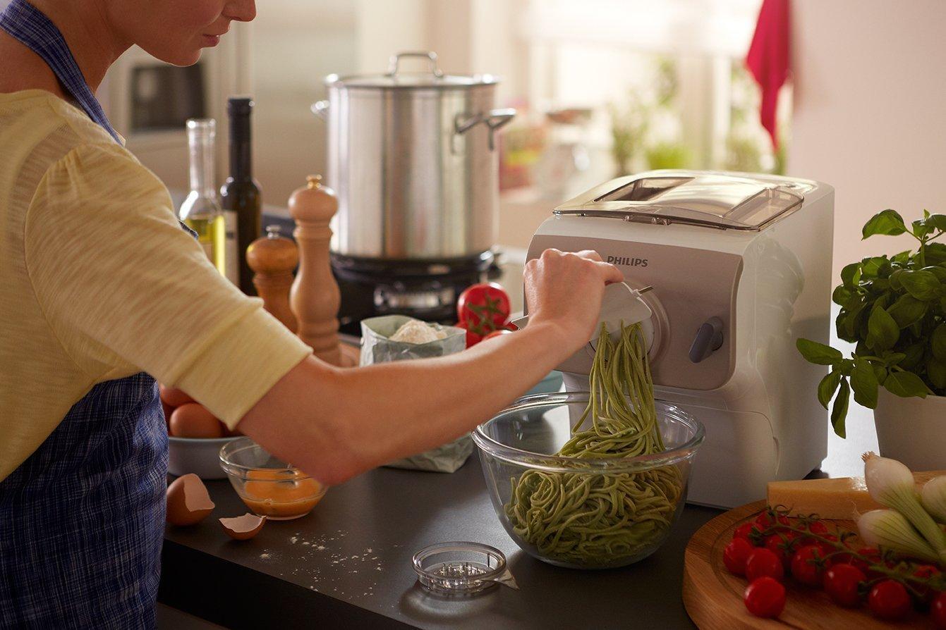 M quina para hacer pasta philips pastamaker hr2355 09 potencia de 200w y accesorios para - Maquina para hacer macarrones ...