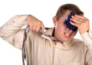 Men mop one handkerchiefs