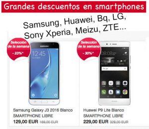 Oferta smartphones de eBay