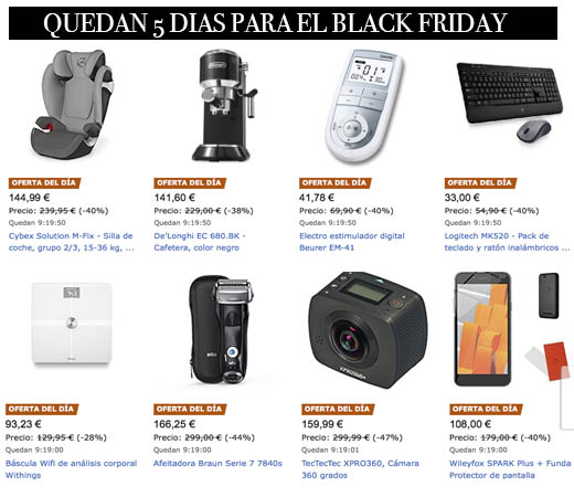 Ofertas Black Friday Domingo