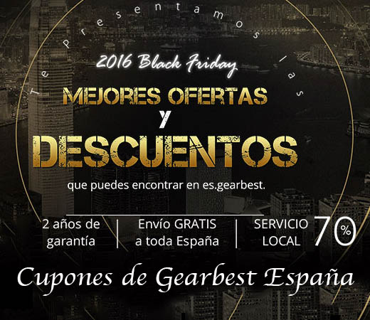 Gearbest españa Black Friday