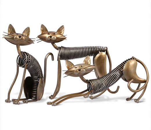 escultura-gatos