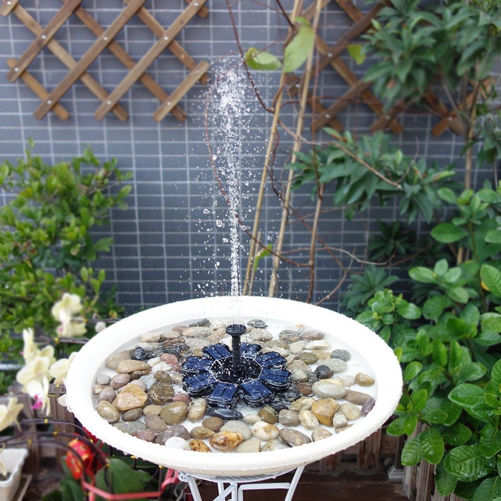 Bomba de agua para decoraci n con paneles solares anself for Piscinas pequenas plastico duro