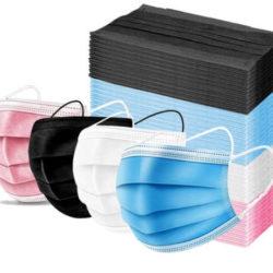 200 Mascarillas de tres capas en diferentes colores por sólo 8,50€.