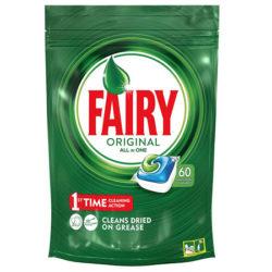 60 Cápsulas de lavavajillas Fairy Original Todo en Uno por sólo 6,60€.
