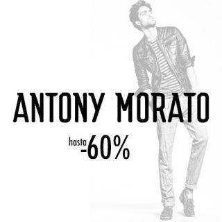 Descuentos de hasta el 60% en moda y complementos de Antony Morato para hombre.