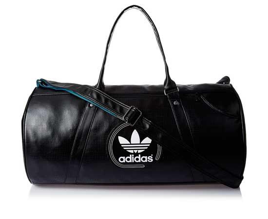 Bolsa deportiva Adidas Duffel Perforated en color negro por 43 0892d657cc8a8