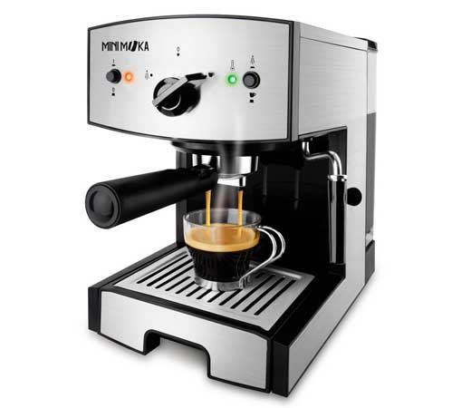 Mini moka cm1675 cafetera espresso de 15 bar y 1050w de - Cafetera express amazon ...