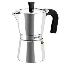 Cafetera italiana de aluminio Monix Vitro Express de seis tazas por sólo 7,20€.