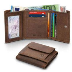 Oferta flash! Cartera para hombre Teehon fabricada en cuero con protección RFID por sólo 15,39€.