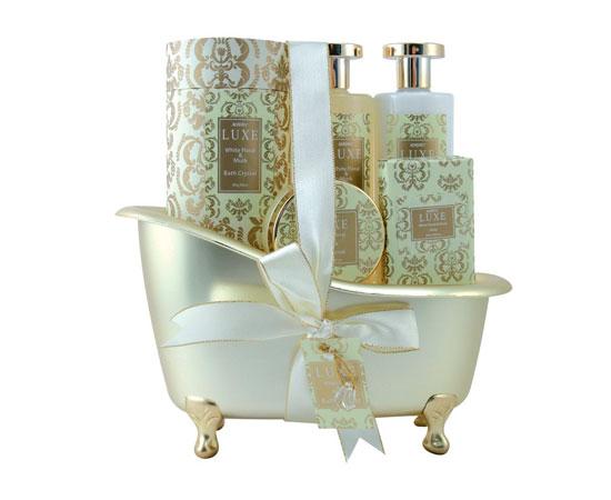 Cesta de ba o para regalo con jabones de esencia de flores - Cestas para banos ...