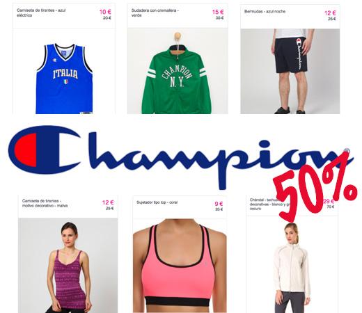 49733f266ef57 Descuentos del 50% en el catálogo de moda y calzado deportivo de Champion  para hombre
