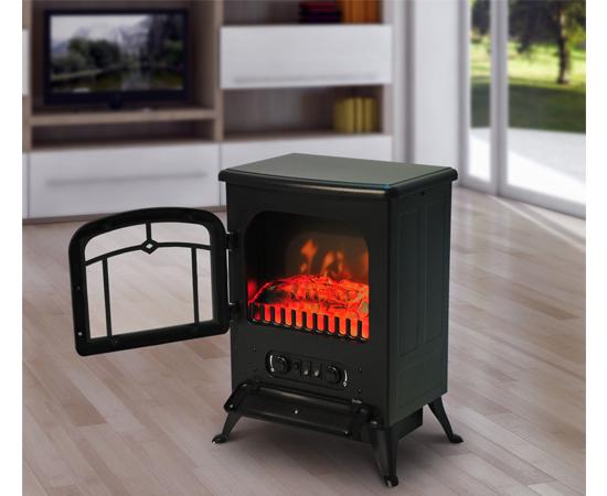 Chimena el ctrica con efecto de le a ardiendo por 950 - Calefaccion por chimenea ...
