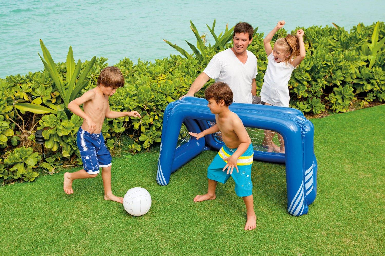 Oferta porter a de f tbol hinchable para jardin piscina for Piscina hinchable jardin