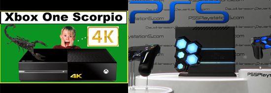 Posibles diseños de Scorpio y PS5