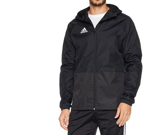 Chubasquero abierto Adidas Condivo 18 en color negro por 18 1301267c326