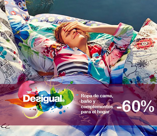 Descuentos de hasta el 60 en productos ropa de cama ropa de ba o y decoraci n del cat logo - Desigual ropa de cama ...