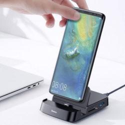 Conecta tu móvil a cualquier dispositivo con la estación USB tipo C Baseus Mate Docking con 7 conectores por 24,51€!!