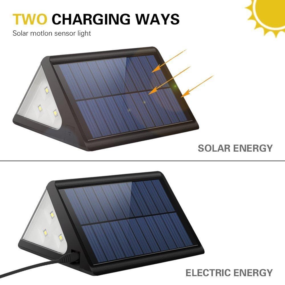 Oferta del d a pack de 4 focos solares grde 28 led con - Focos solares amazon ...