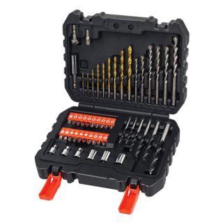 Maletín Black and Decker A7188 con 50 piezas para atornillar y taladrar por 14,95€!!