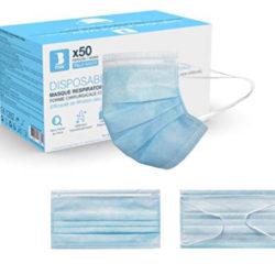 50 mascarillas quirúrgicas desechables de 3 capas por 17,59€ en tiendas 30,00€.