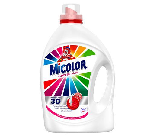 Detergente para lavadora en gel micolor colores vivos de for Gama de colores vivos