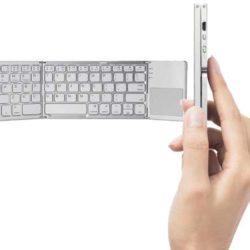 Teclado plegable, inalámbrico, bluetooth, con touchpad por sólo 19,55€.