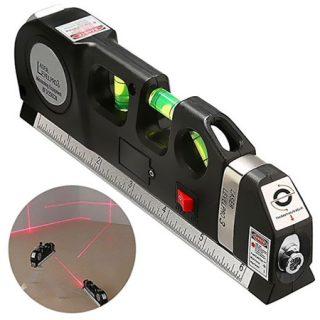 Nivel láser multifuncional con cinta métrica de 25 metros y nivel de burbuja por 5,62€.