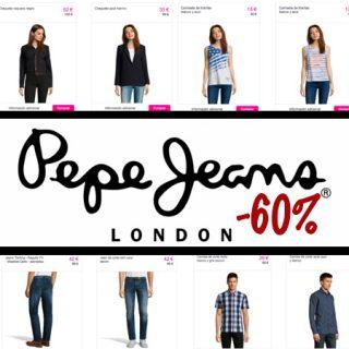 Descuentos de hasta el 60% en el catálogo de moda de Pepe Jeans para hombre, mujer y niños. Y este finde con gastos de envío gratis.