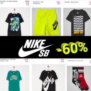 Ropa para niños Nike SB con descuentos de hasta el 60% y envío gratis durante el finde.