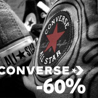 Descuentos de hasta el 60%  en zapatillas y ropa Converse.