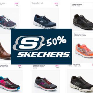 Descuentos de hasta el 50% en el catálogo de Skechers para mujer, hombre y niños.