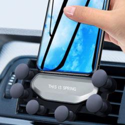 Soporte de gravedad para el coche Gocomma Auto-Clamping Car por sólo 2,73€.