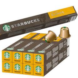 80 cápsulas de café Starbucks Blonde Espresso Roast compatible con cafeteras Nespresso por sólo 25,60€.