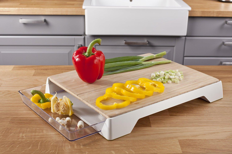 Tabla de cortar para cocina con bandeja recoge todo de for Todo para la cocina