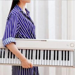 Teclado The One Keyboard Air con Bluetooth, portátil, ultrafino y 61 teclas por 174,74€.