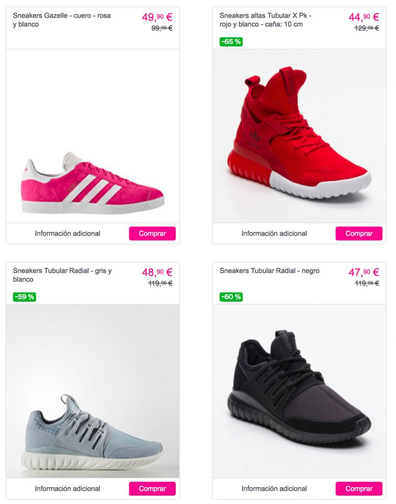 watch 7ec73 84f33 Sin embargo en cuanto a calzado deportivo para caballero también  encontraremos modelos de las colecciones Stan Smith a la venta desde 47,90€  , la colección ...