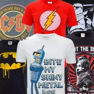5 Camisetas Geek al azar por 16,99€ en Zavvi con envío incluido.