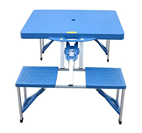 Mesa plegable de alum mio 4 asientos para camping playa for Mesa plegable camping