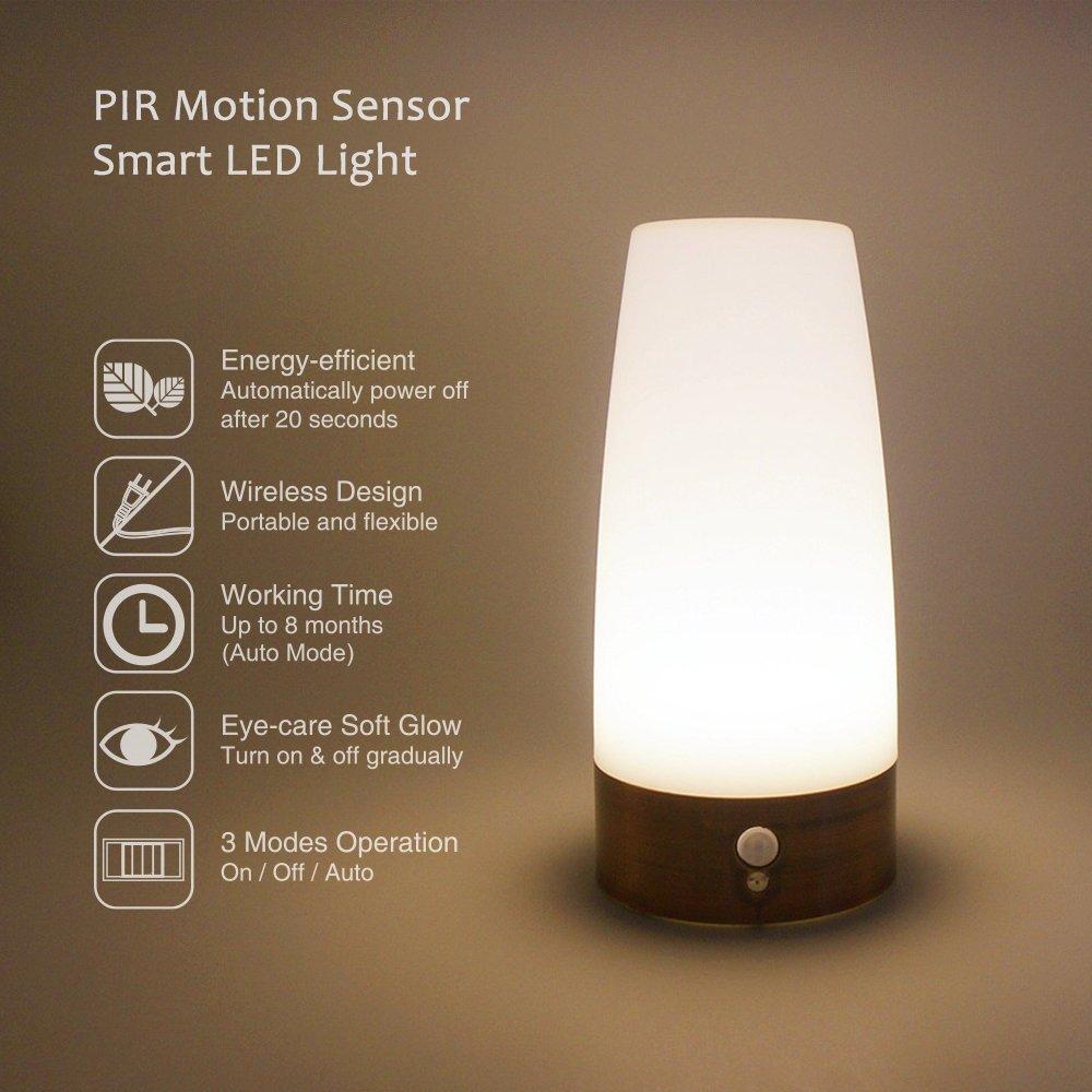 L mpara para mesita de noche con sensores de movimiento 12 - Lampara de noche para bebes ...