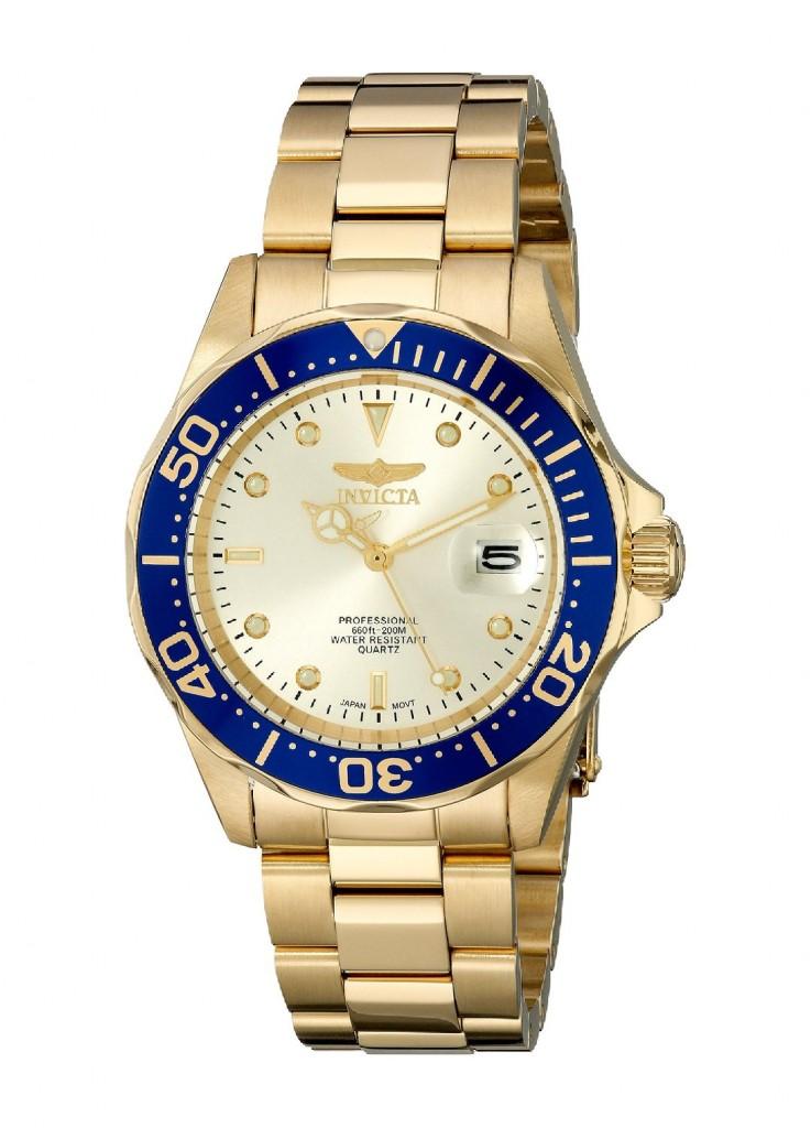 Reloj dorado de hombre barato