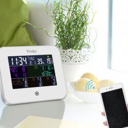 Estación Meteorológica Digital WIFI con Higrómetro, Termómetro de Humedad, Medidor de Temperatura, Calendario, y reloj despertador por 13,99€ con código, antes 23,59€.