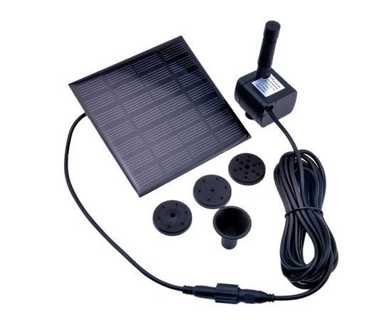 Bomba de agua sumergible con panel solar para pecera for Bomba de agua para fuente de jardin