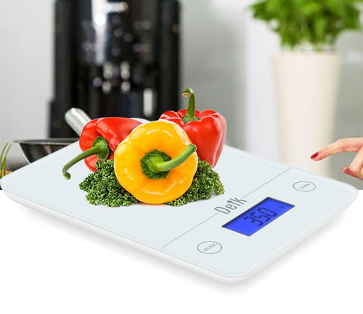 B scula digital t ctil de cocina smart weight de vidrio for Bascula cocina amazon