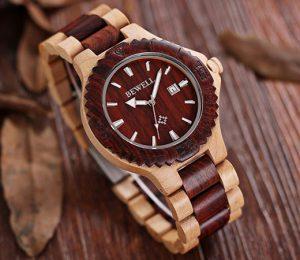 reloj de madera barato
