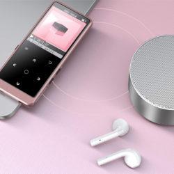 Reproductor MP3 bluetooth 4.0 con chip de reducción de ruido Hommie J5, soporte Airpods, 16GB/128GB, radio FM, ecualizador, E-books, grabador con función VOR por 12,99€.