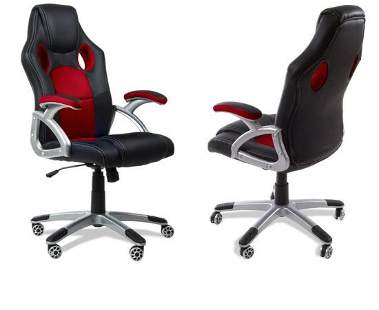Sillas de despacho estilo deportivo por 69 antes 171 for Ofertas sillas despacho
