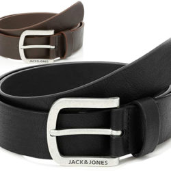 Cinturón Jack and Jones marrón o negro por sólo 7,99€, antes 12,99€.