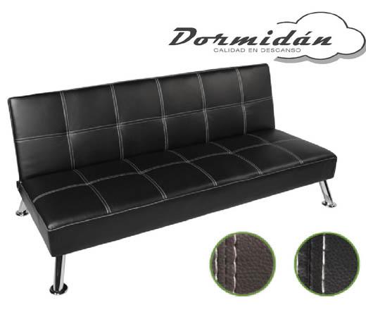 Sof cama plegable 180x90x78cm chocolate o negro tapizado for Sofa cama 99 euros